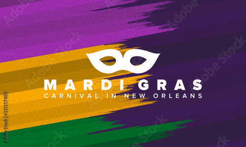 Canvas Print Mardi Gras Carnival in New Orleans