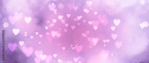 Abstract pastel background with hearts - concept Mother's Day, Valentine's Day, Birthday - spring colors