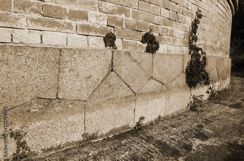 Wallpaper Mural Polygonal foundation masonry