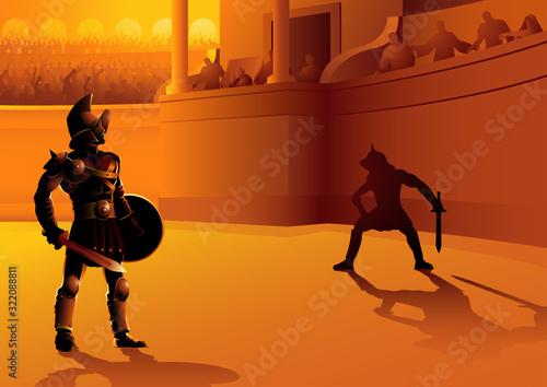 Rome gladiators in the arena Tapéta, Fotótapéta