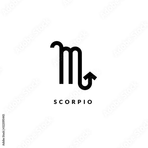 Fotografie, Obraz Zodiac scorpio line sign