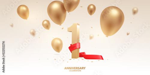 1st Year anniversary celebration background Fototapete