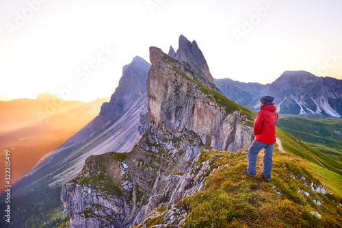 Obraz na plátně Amazing view on Seceda peak