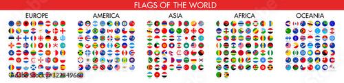 Fotografia, Obraz Flag of world. Vector icons