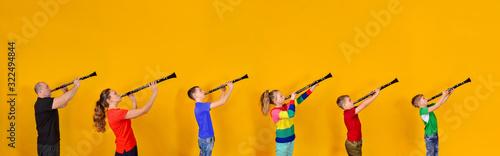 Valokuva The family plays the clarinet
