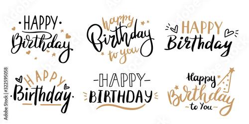 Canvas Print Happy birthday celebration concept