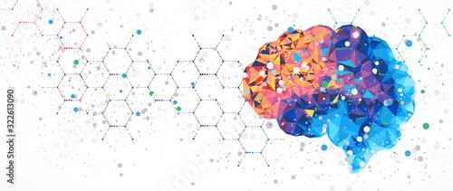 Leinwand Poster Abstract human brain