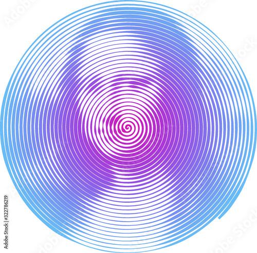 Photo Mona Lisa Spiral Drawing Vector