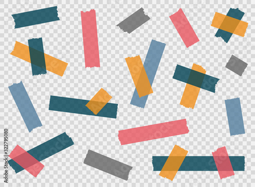 Cuadros en Lienzo Adhesive tape, sticky paper stripes
