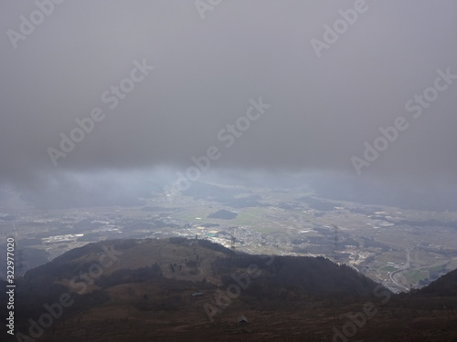 Obraz na plátně The view of Ibuki Mountain in Japan