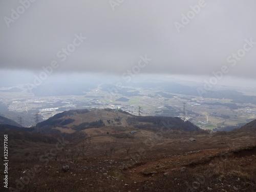 Платно The view of Ibuki Mountain in Japan