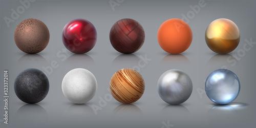 Fotografija Texture spheres
