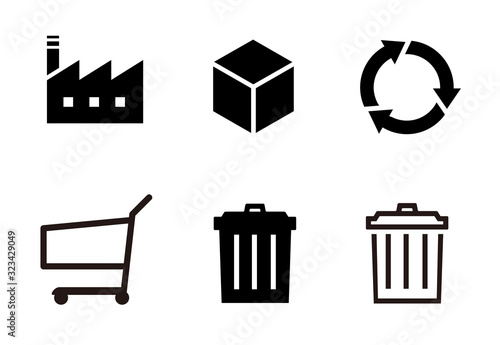 Cuadros en Lienzo 生産 ゴミ リサイクル アイコンセット