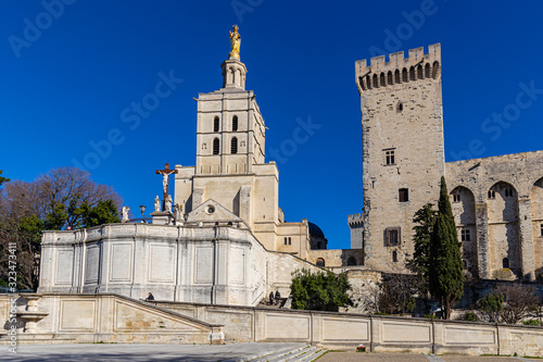 Canvas Print the city of the popes of Avignon, in the south of France