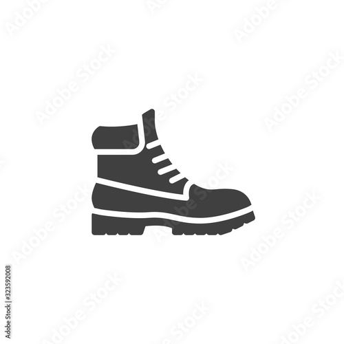 Fotografiet Hiking boot vector icon