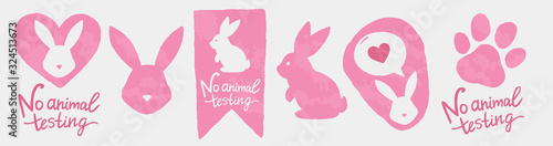 Foto Against animal testing stickers
