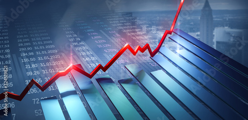 Slika na platnu Börse Finanzen Investment