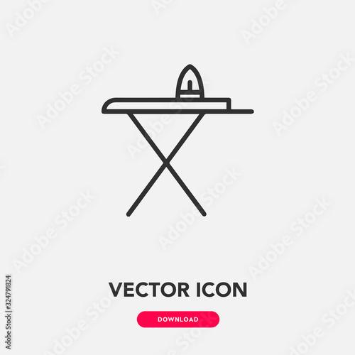 Fototapeta ironing icon vector sign symbol