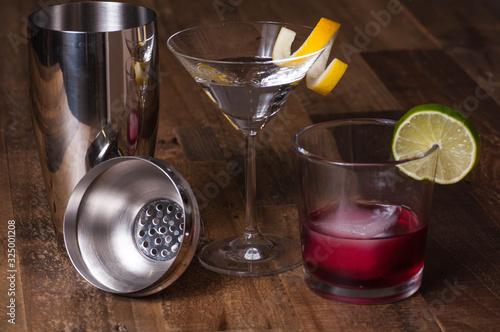Fototapeta Cocktails with shaker