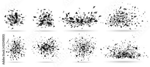 Photo Abstract shatter burst