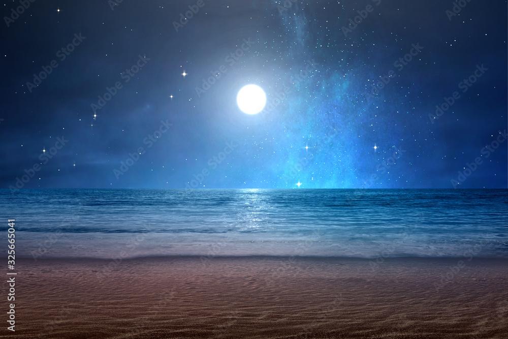 Sandy beach with ocean views
