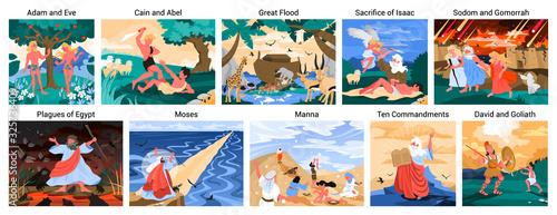 Fotografie, Obraz Bible narratives set