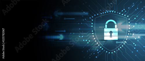 Fotografiet Cybersecurity and information or network protection