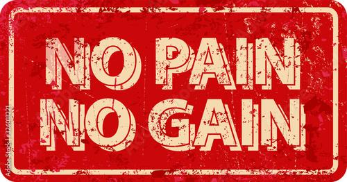 Canvas Print NO PAIN NO GAIN