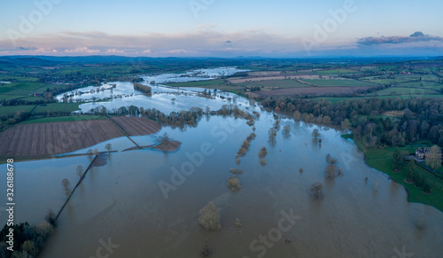 Fotografia River Severn in Flood in Shropshire