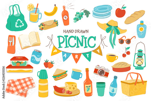 Wallpaper Mural Set for a picnic day