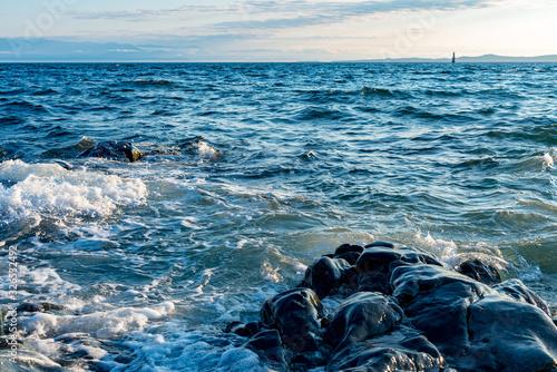Photo sea and rocks