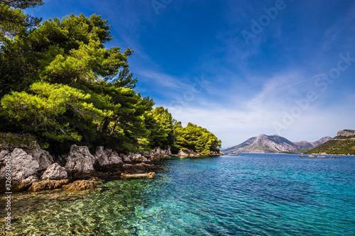 Leinwand Poster Shore Of Peljesac Peninsula, Dalmatia, Croatia