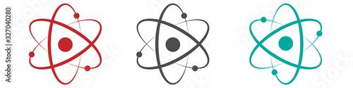 Fotografia Atom icon in flat design