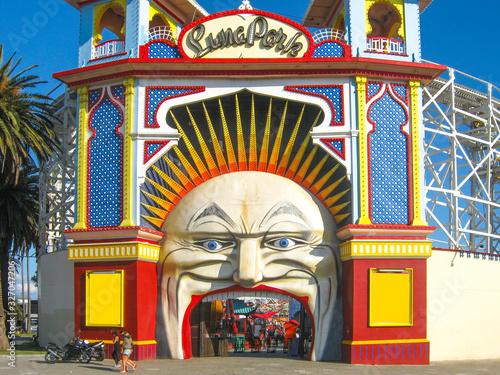 Fototapeta premium Luna Park w St. Kilda Melbourne, Wiktoria, Australia
