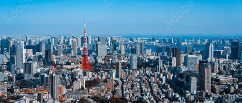 Canvas Print 東京都市風景 Cityscape of Tokyo Japan