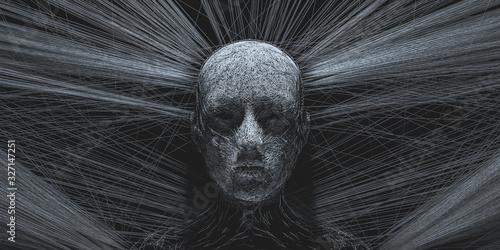 Fotografia, Obraz Concept of mistic mask or face. 3d illustration