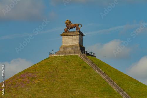 Obraz na płótnie The Lion's Mound, Waterloo, Belgium
