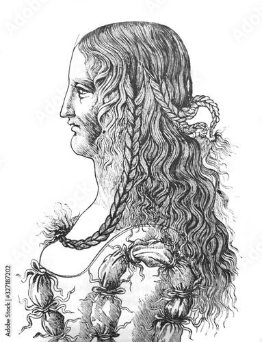 Monna Lisa or La Gioconda by Leonardo da Vinci in the old book La Gravure, by A Fototapeta