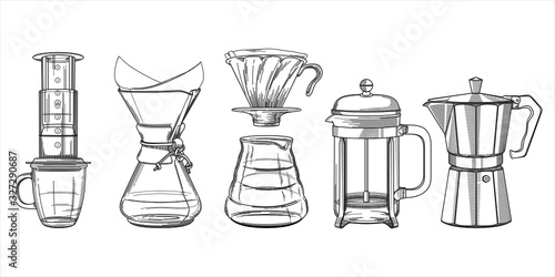 Tableau sur Toile Coffee Brewing Equipment