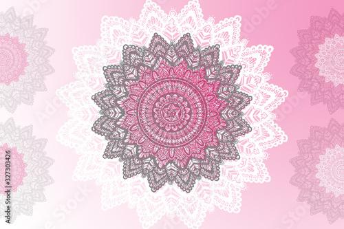 Fototapeta Colorful background with mandala element