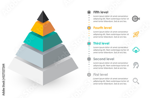 Fotografie, Obraz Vector infographic template