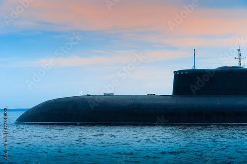 Canvas Print Submarine close-up
