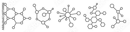 Carta da parati Molecule model or structure of the substance.
