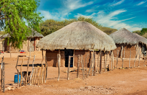 Tablou Canvas African huts