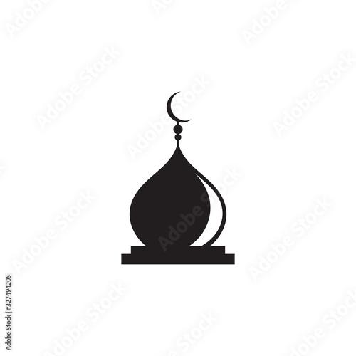 Canvas Print islamic mosque logo vector icon