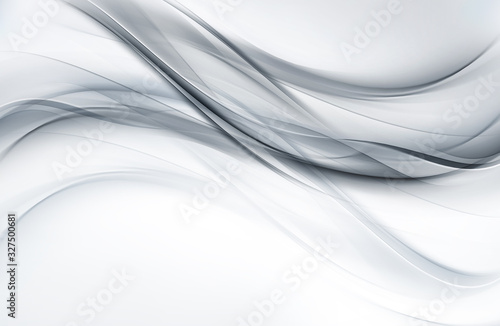 Fashion silver and white texture. Abstract waves decoration background.