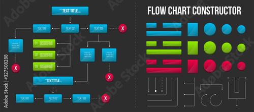 Tela Creative vector illustration of corporate organization flow chart constructor