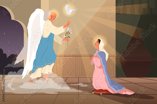 Fotografie, Obraz Bible narratives about the Annunciation to the Blessed Virgin Mary