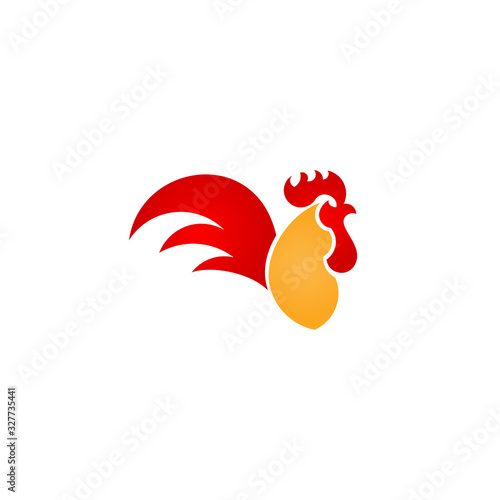 Fotografija Rooster Logo Vector Illustration For Print