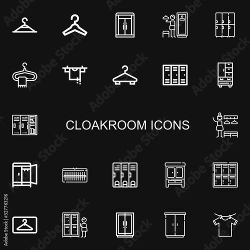 Obraz na płótnie Editable 22 cloakroom icons for web and mobile